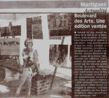 Article exposition toiles Martigues Juin 2012 Ghisseguin
